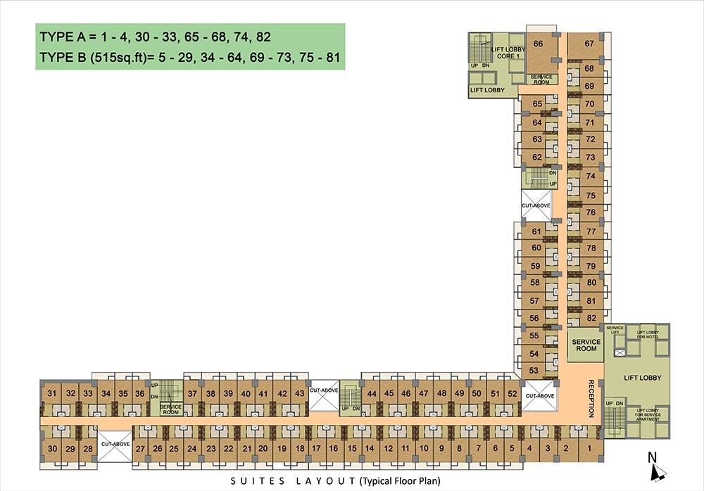 Gaur Studio Apartments Site Plan