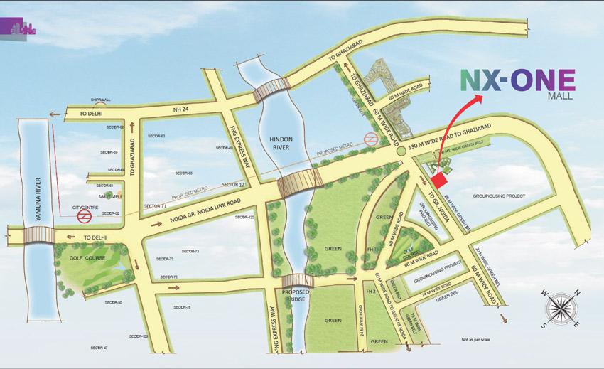 NX One Studio Apartment Location Map