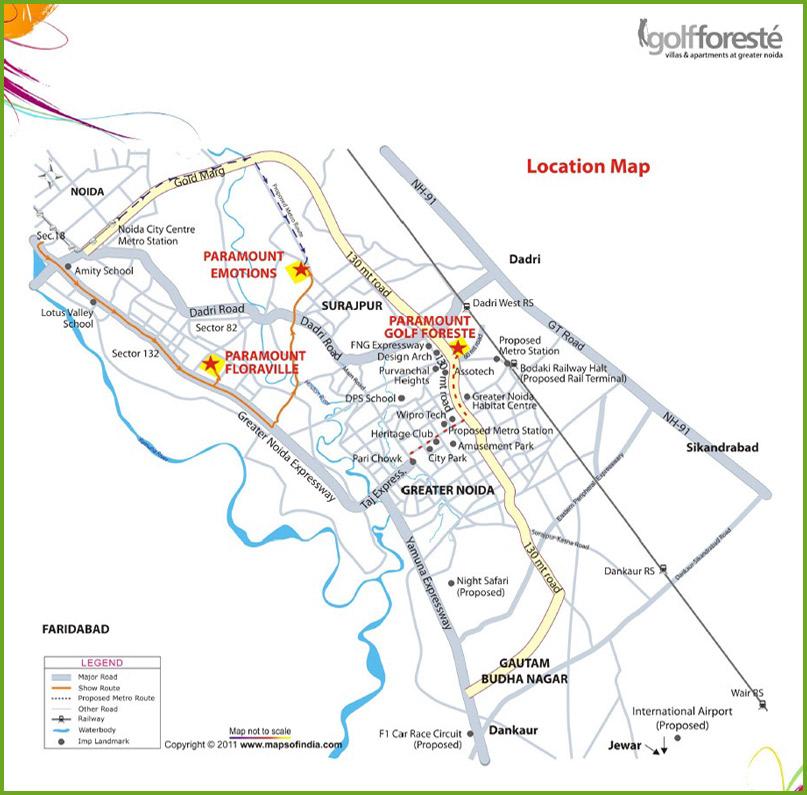 Paramount Studio Apartment Location Map